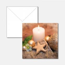 Kerze mit Stern