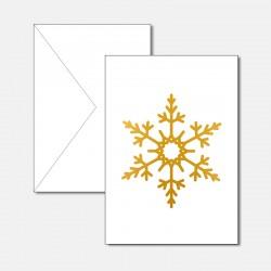 Schneeflocke Gold