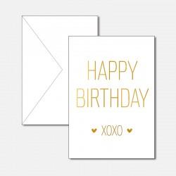Happy Birthday XOXO Gold