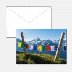 Tibetische Gebetsfahnen vor...