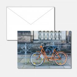 Oranges Fahrrad