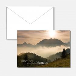 Trauerkarte Berge im Nebel F