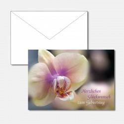 Geburtstagskarte Orchidee