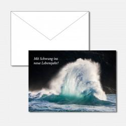 Geburtstagskarte Welle