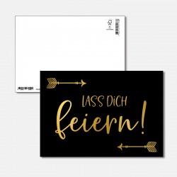 Postkarte Goldstück lass...
