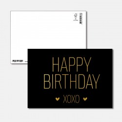 Postkarte Goldstück Happy...