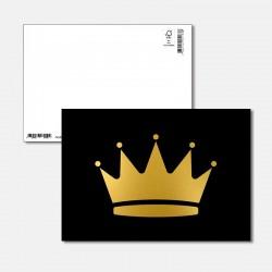 Postkarte Goldstück Krone