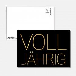 Postkarte Goldstück Volljährig