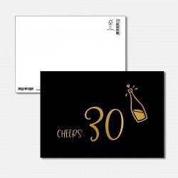 Postkarte Goldstück Cheers 30