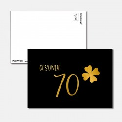 Postkarte Goldstück Gesunde 70