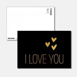 Postkarte Goldstück i love you