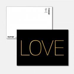 Postkarte Goldstück LOVE