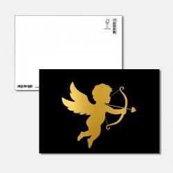 Postkarte Goldstück Amor