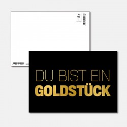 Postkarte Goldstück du bis...