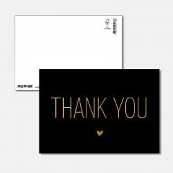 Postkarte Goldstück Thank you