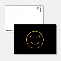 Postkarte Goldstück Happy
