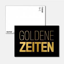 Postkarte Goldstück goldene...