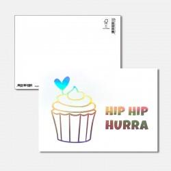 Postkarte Surprise Hip Hip...