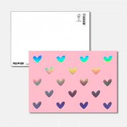 Postkarte Surprise Herzen
