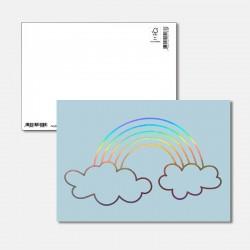 Postkarte Surprise Regenbogen