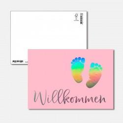 Postkarte Surprise Willkommen
