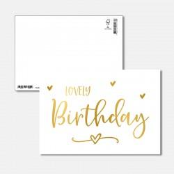 Postkarte Goldstück lovley...