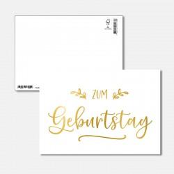 Postkarte Goldstück zum...