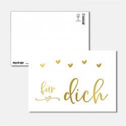 Postkarte Goldstück für dich