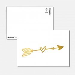 Postkarte Goldstück Pfeil