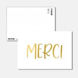 Postkarte Goldstück Merci