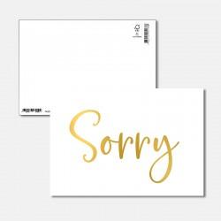 Postkarte Goldstück Sorry