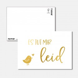 Postkarte Goldstück Es tut...