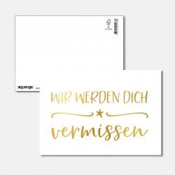 Postkarte Goldstück dich...