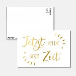 Postkarte Goldstück  die...