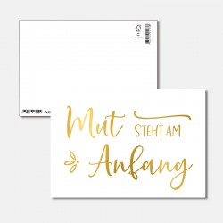 Postkarte Goldstück Mut...