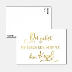 Postkarte Goldstück aus dem...