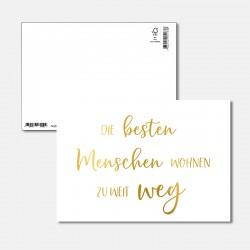 Postkarte Goldstück beste...