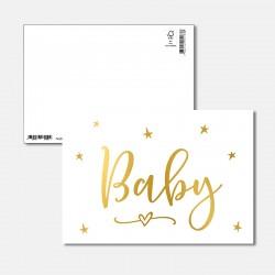 Postkarte Goldstück Baby