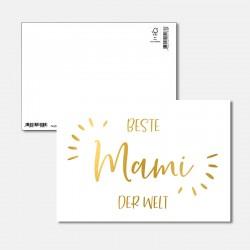 Postkarte Goldstück beste Mami