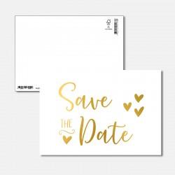 Postkarte Goldstück save...