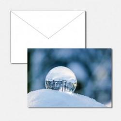 Glaskugel Schnee
