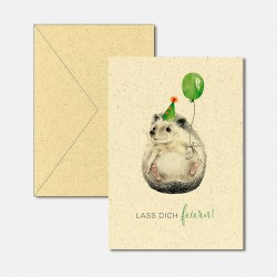 Karte aus Graspapier Lass...