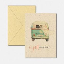 Karte aus Graspapier Hochzeit