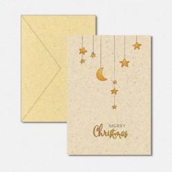 Karte aus Graspapier Christmas