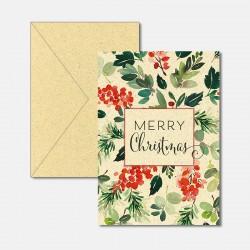 Karte aus Graspapier Merry...