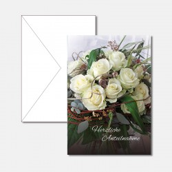 Bouquet weisse Rosen