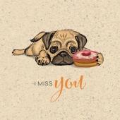 🐶😕 I miss you 😢🐶 . . . . . #naturverlag #geburtstagskarte #graspapier #graskarte #veganpaper #hund #imissyou #karte #kartenausgraspapier #kartenausgras